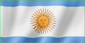 A picture of Argentina's flag